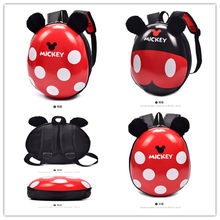Mickey Mouse Eggshell Pattern Backpacks Kids Disney Cute Cartoon Anime Chafer Toys Boys Backpack Kawaii EVA Girls School Bags(China)