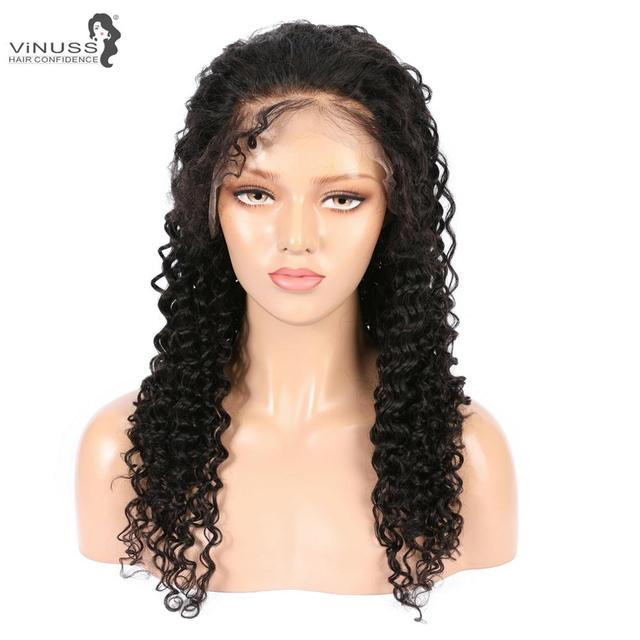 Vinuss Full Lace Human Hair Wigs For Black Women deep wave Lace Front Wigs Brazilian Remy Pre Plucked Bleached Knots 4
