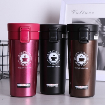 380ml Coffee Mug Thermocup Double Wall Stainless Steel Vacuum Flasks Car Thermo Travel Mug Portable Drinkware Coffee Tea Cup Hot stainless steel thermoes vacuum flasks insulation mug cup fashion popular mug travel thermoses coffee and lovers cups 320ml