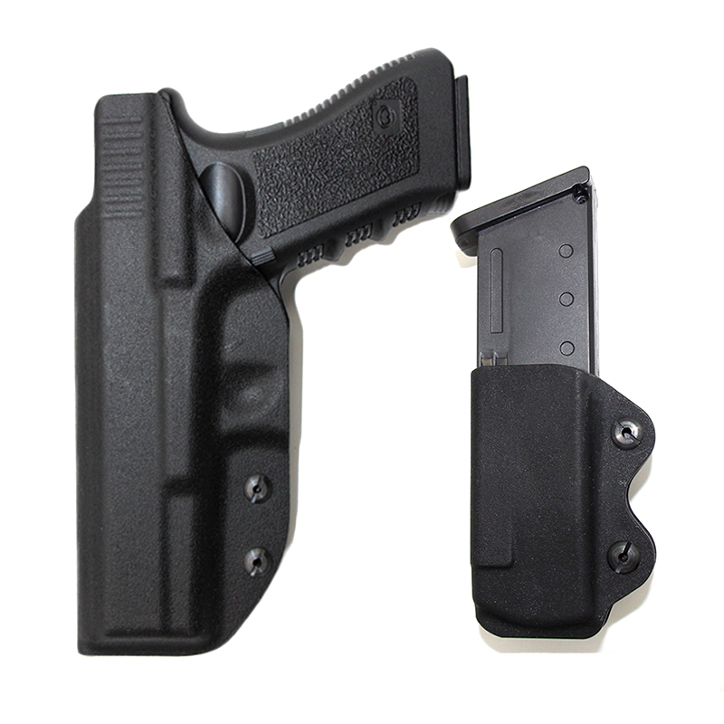 Tactical IWB Kydex <font><b>Gun</b></font> Holster for <font><b>Glock</b></font> 17 22 31 43 43x Concealed Airsoft Pistol Holster With <font><b>9mm</b></font> Magazine Pouch Beltclip Case image
