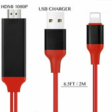 Lightning to HDMI Cable 2M 8 Pin 1080p TV AV Adapter USB Charger For iPhone iPad переходник usb type c для наушников