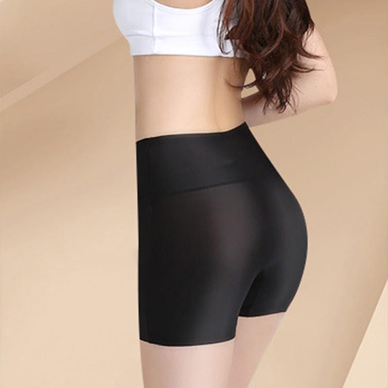 Summer Women Safety Shorts Pants Seamless Thin Ice Silk High Waist Panties Seamless Anti Emptied Boyshorts Girls Underwear 3