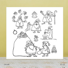 AZSG Santa Claus Clear Stamps For DIY Scrapbooking/Card Making/Album Decorative Rubber Stamp Crafts