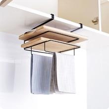 Perchero de hierro para puerta de armario o armario, colgador de toallas, soporte para tabla de cortar, estante colgante, organizador para guardar Espacio de cocina