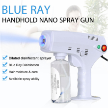 1200W 260ML Disinfection Blue Light Nano Steam Gun Hair Spray Machine Ultra Fine Aerosol Water Mist Trigger Sprayer 110V 220V
