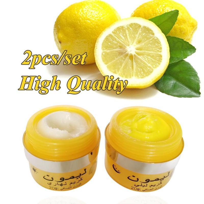 2pcs/3pcs Effective Lemon Whitening Cream Moisturizer Anti Wrinkle Anti Aging Remove Freckle Melasma Acne Spots Face Care Cream