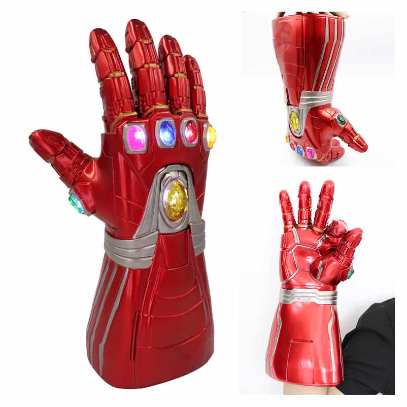 New Avengers Endgame Marvel Supereroe Tony Stark Iron Man Cosplay Guanto Braccio Infinity Gauntlet Mano Destra Thanos Guanti LED Giocattolo