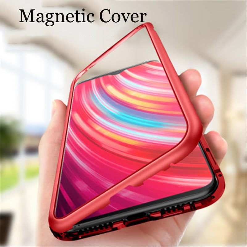 Magnetic Metal Case For Redmi Note 8 7 8T 5 6 Pro Phone Cover For Redmi 7 8 7A 8A K30 K20 Pro Case Cover