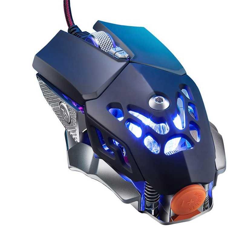 V9 2400 точек/дюйм Led Проводная мышь Механическая светодиодная подсветка игровая 6