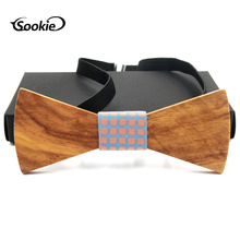 Handmade Wood Wooden Bow Tie Europe And America Men Simple Wooden Tie Wedding Wooden Bow Tie premium handmade wooden bow tie for men