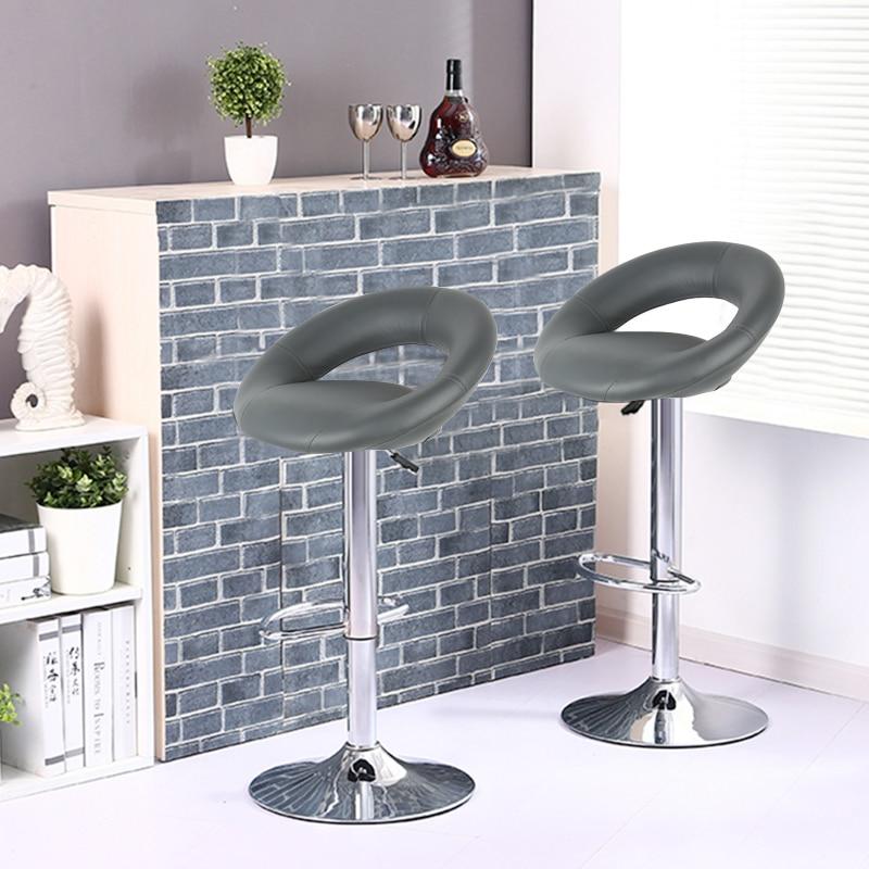 2 шт. вращающийся барный стул Европейский трендовый газовый подъемный барный стул Moon Bay дизайн барный стул для домашнего декора гостиной HWC