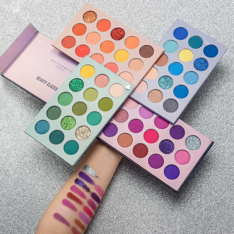 Красота глазурованная 60 цветов s палитра теней для век, блестящие металлические матовые мерцающие натуральные 4 в 1 цветная доска палитра дл...