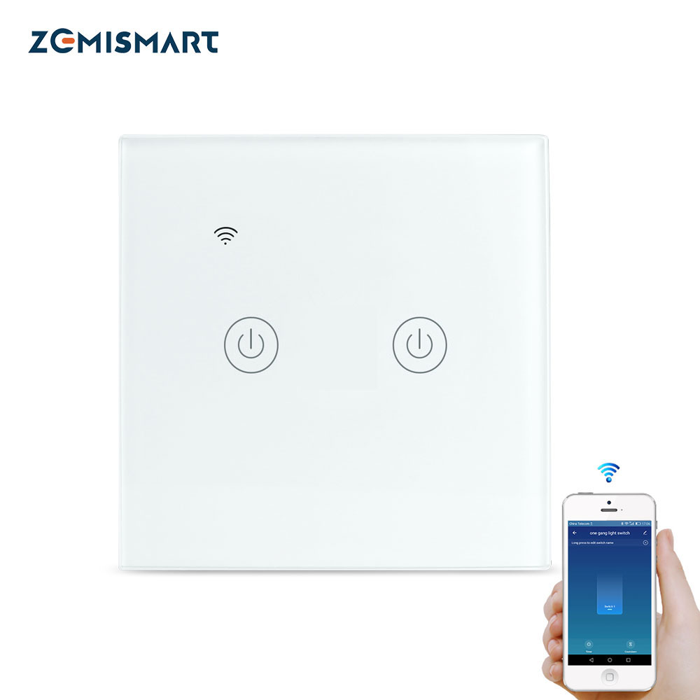 Smart WiFi Wall Light Switch For Alexa /& Google 1//2 Gang No Neutral Wire Needed