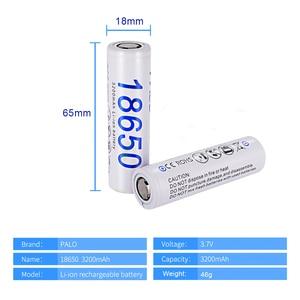 Image 2 - PALO 18650 Rechargeable Battery 3.7v 3200mah NCR18650 Lithium Li ion Rechargeable Battery 18650 For Flashlight batteries(NO PCB)