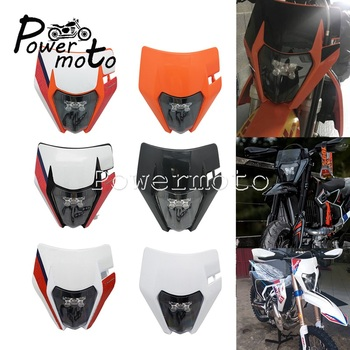 NEW Dual Sport Dirt Bike LED 12V 30W 6000K Headlight Front Mask E8 Head Lamp for KTM EXC XCF XCF-W XC-W Six Days KLX YZF CRF XR