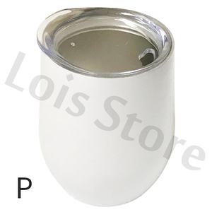 Image 3 - Wholesale 50pcs/lot 12oz Wine Tumbler Stainless Steel Wine Glass Egg Cup 2 layers Vacuum Insulated Beer Mug Wedding Party Gifts