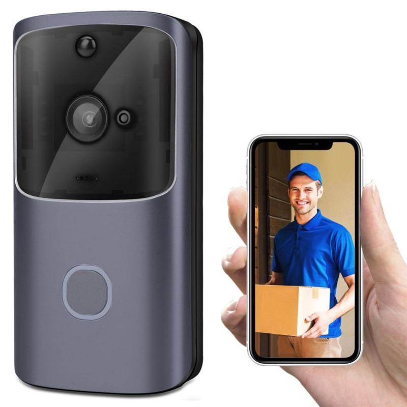 Smart WiFi Video Doorbell Wireless Home Security Night Vision IP Door Bell Visible Camera Smart WiFi Doorbell Door Intercom