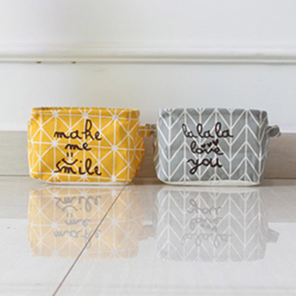 Storage-Box Fabric Practical Cotton Home Korean Cartoon Custom Linen Canvas 1-Pc Multi-Functional