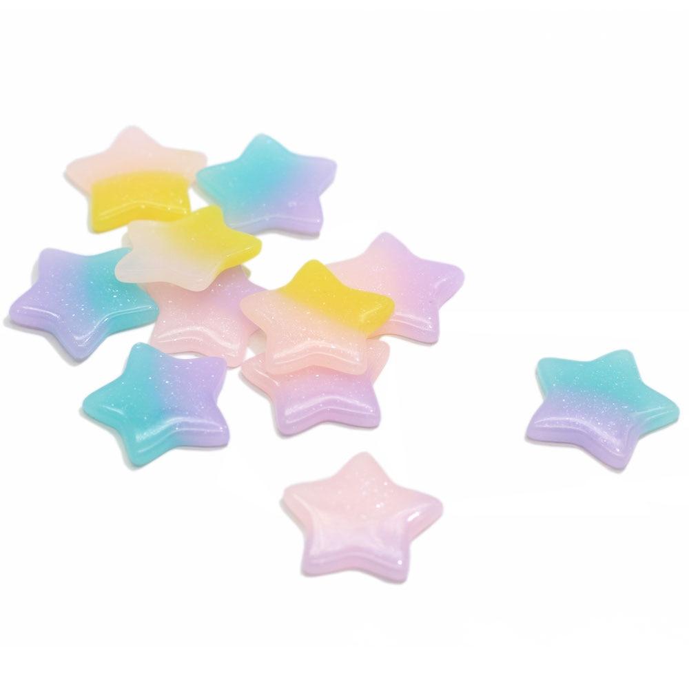 Diamond /& Banner Pastel Unicorn Rainbow 4 pcs Exclusive Resin Cabochons