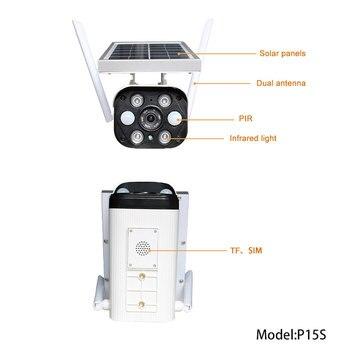 Full HD 1080P Camera Outdoor CCTV Wireless Low Power Solar Powered Wifi IP Camera