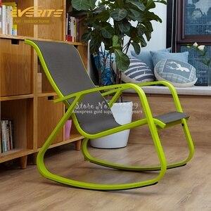 ¡En venta 15%! Mecedora Simple para adultos, silla de descanso verde fresca, sillón de descanso, balcón, silla de descanso para el almuerzo americano
