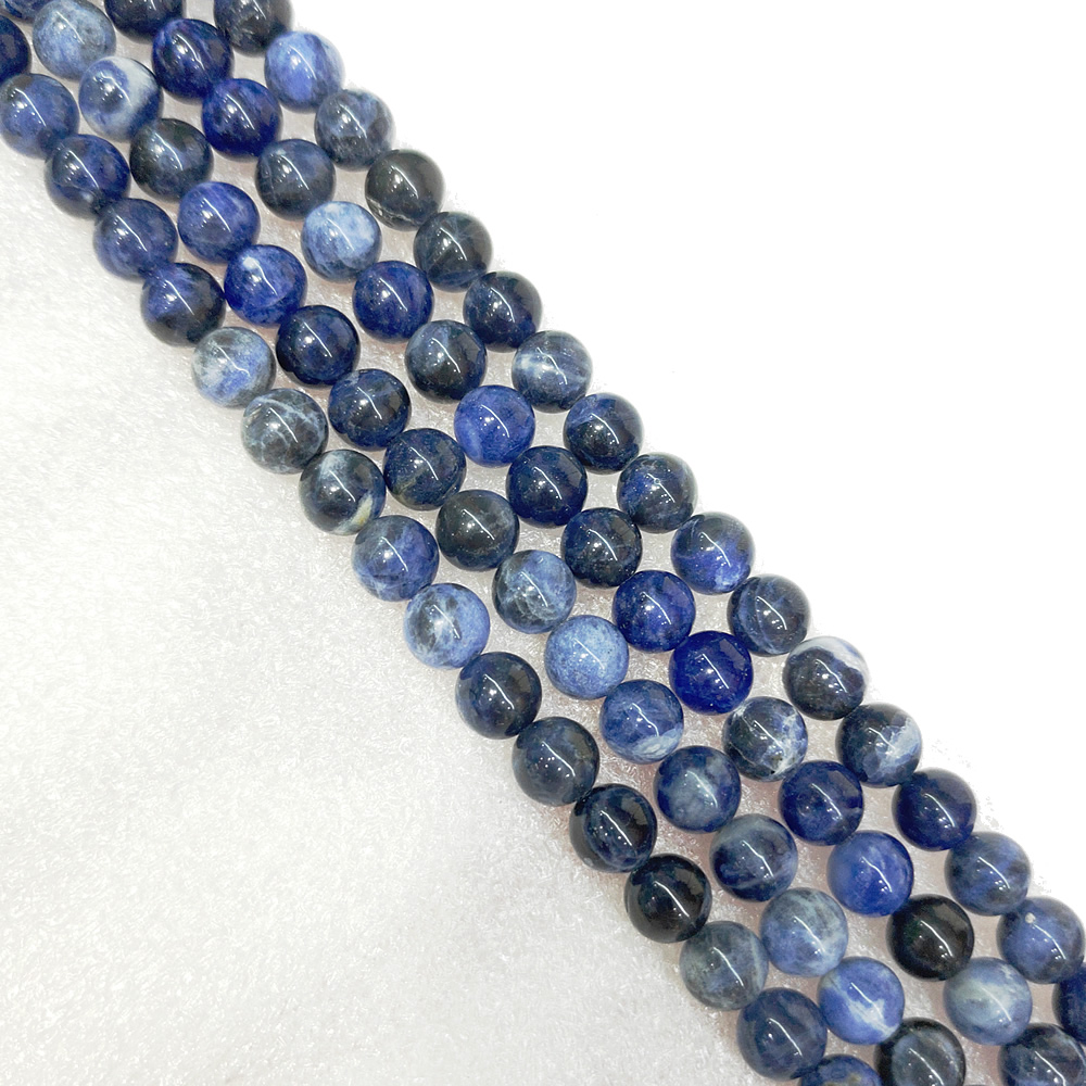 Natural Brazilian Blue Ribbon Beads Semi-finished Brazilian Blue Beads Semi-precious Stones Handmade Necklace DIY Bracelet 39cm 2