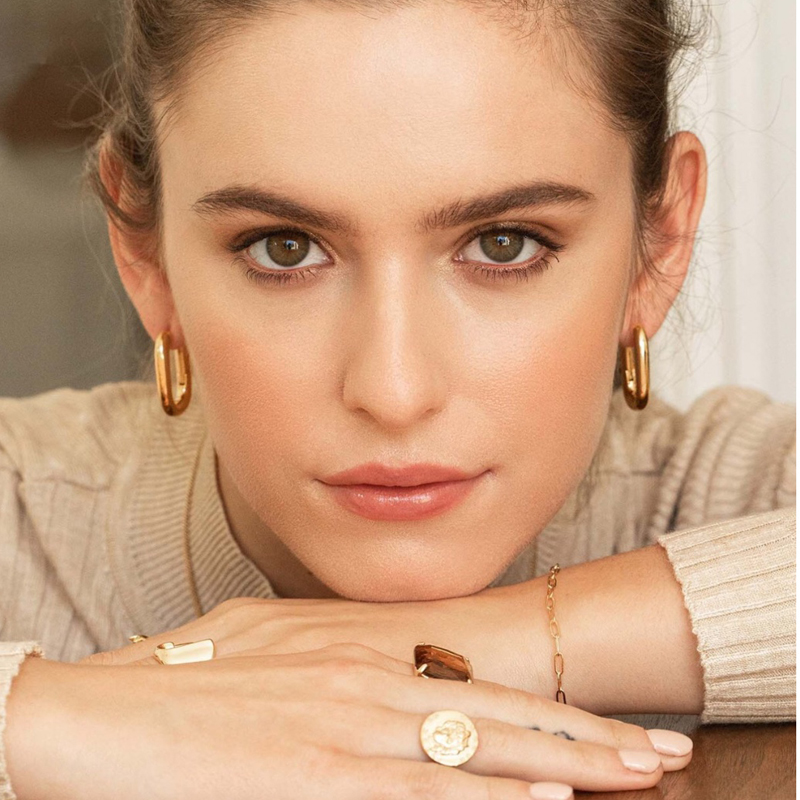 Yhpup Trendy Korean Hoop Earrings Gold Silver Copper 16 K High Quality Earrings Minimalist Brincos For Female Office Jewelry New