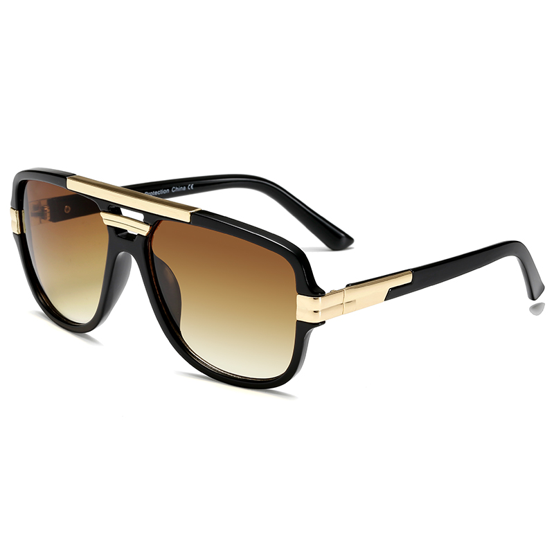 Brand Design Men Sunglasses Vintage Male Square Sun Glasses Luxury Gradient Sunglass UV400 Shades gafas de sol hombre