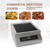 Commercial Induction Cooker Machine Glass Ceramic Heating Electromagnetic Oven Multifunction Cuisine Panel Kitchen