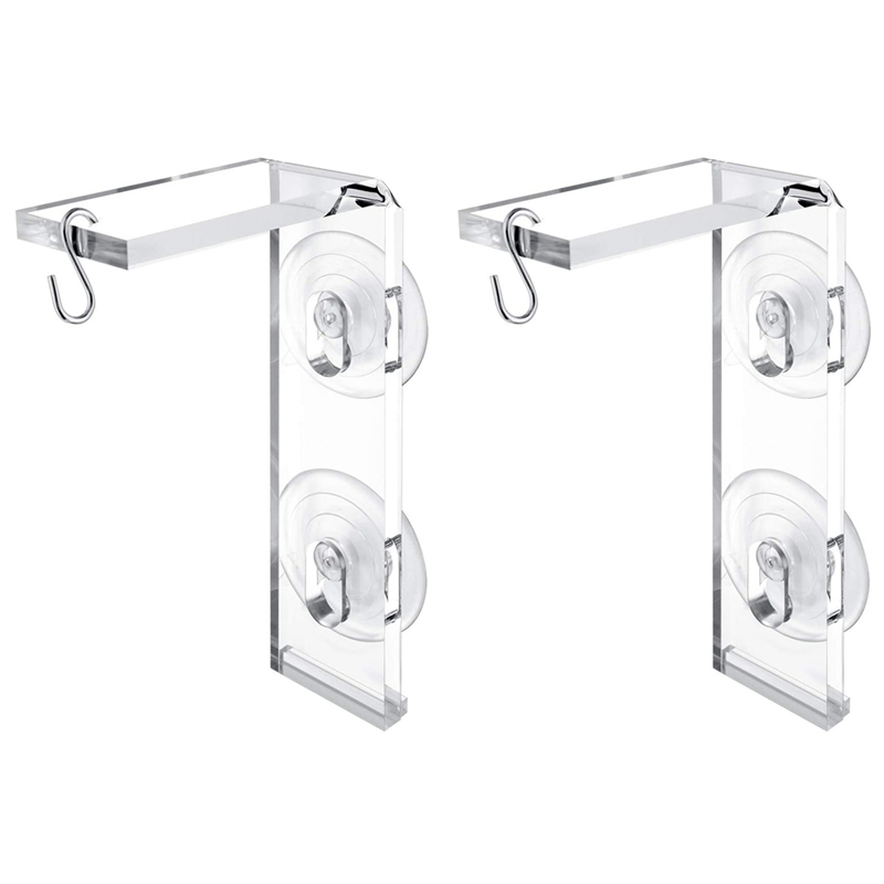 Suction Cup Window Frame Convenient Window Frame for Hanging Plants,for Bird Feeders,Decorations and Wind Chimes 2Pcs