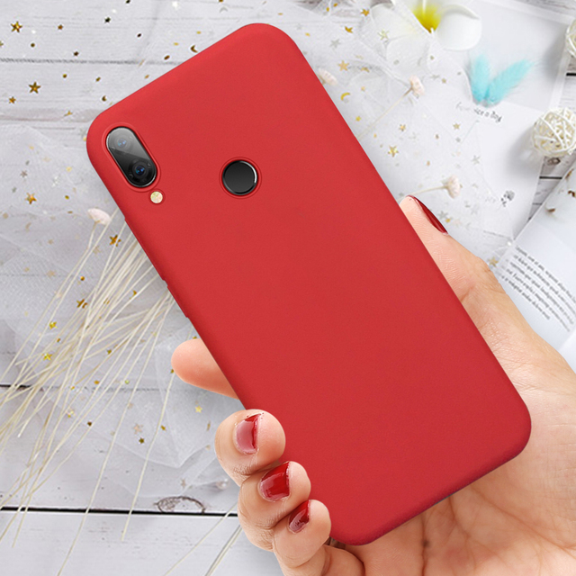 Wine Red Silicone Phone Case For Xiaomi Redmi K20 7 7A 6A Note 8 7 5 6 Pro Candy Color TPU Cover on Redmi 7 A note8 note7 Coque