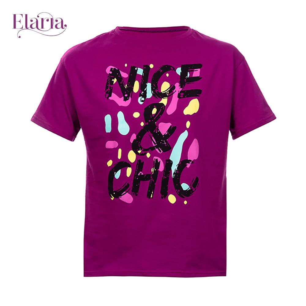 цена на T-Shirts Elaria Tsg-19-1 children's clothing t-shirt for boys for girls clothes