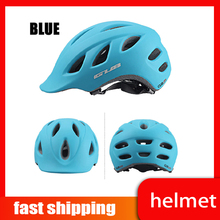 Ultralight Cycling Helmet Unisex Adults Road Mountain Bike Bicycle Hoverboard Visor blue