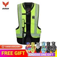 DUHAN Motorcycle Jacket Air bag Vest Motorcycle Vest Air Bag System Protective Gear Reflective Motorbike Airbag Moto Vest