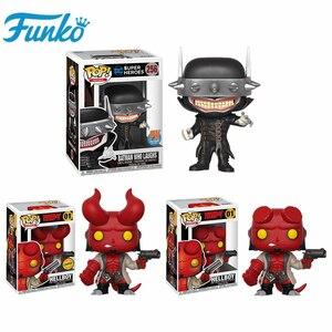 FUNKO POP Hellboy Chase DC Super Heroes Бэтмен, который смеется, фигурки, куклы, Детская Коллекция подарков на день рождения, модель, игрушки