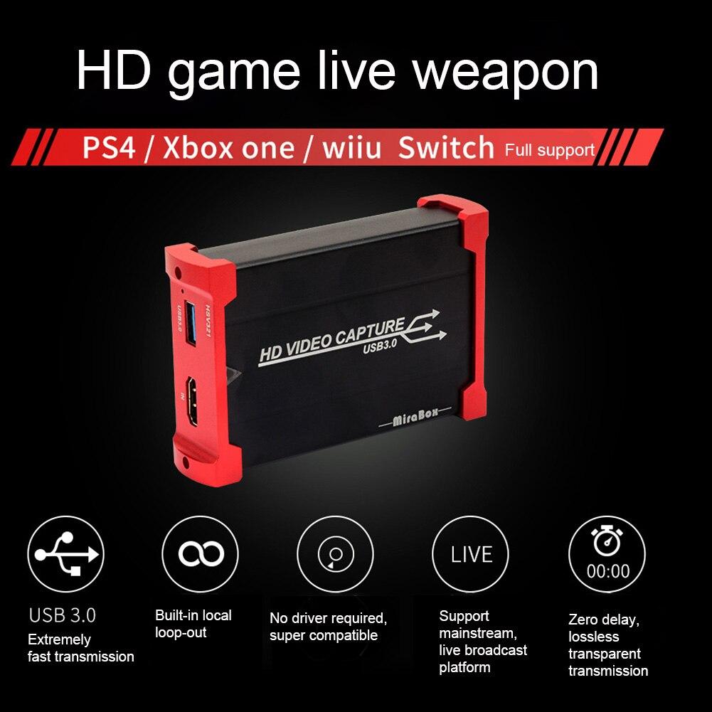 HD 1080P USB 3,0 компьютерные компоненты HDMI видеокарта захватывающая офисная игра записывающая петля портативная для WII U