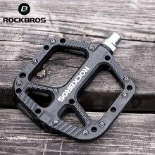 ROCKBROS pedales ultraligeros para bicicleta, rodamientos con sello, de nailon, para ciclismo de montaña o carretera, con plataforma plana