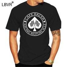 Cafe Racer de la motocicleta de carreras as de picas T camisa gráfico novedad de Primavera de algodón-cuello delgado o crear nueva camisa de moda