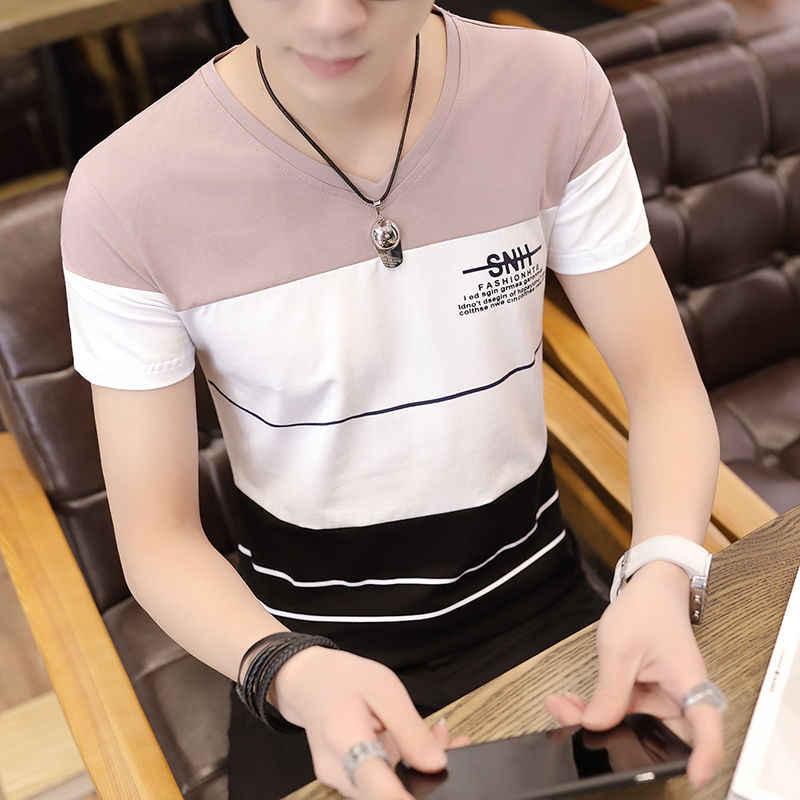 95% Katun Lengan Pendek Pria T-shirt Musim Panas Gaun Tipis Bawah Kemeja Pria Setengah Lengan Tubuh-Kemeja Atas streetwear
