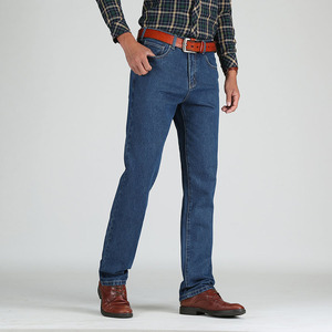 Image 3 - 2019 גברים כותנה ישר קלאסי ג ינס אביב סתיו זכר ג ינס מכנסיים סרבל מעצב גברים ג ינס באיכות גבוהה גודל 28 46