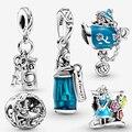 100% sterling silber 925 frauen mode schmuck anhänger Alice im Wunderland charm bead fit original pandora armband, der geschenk