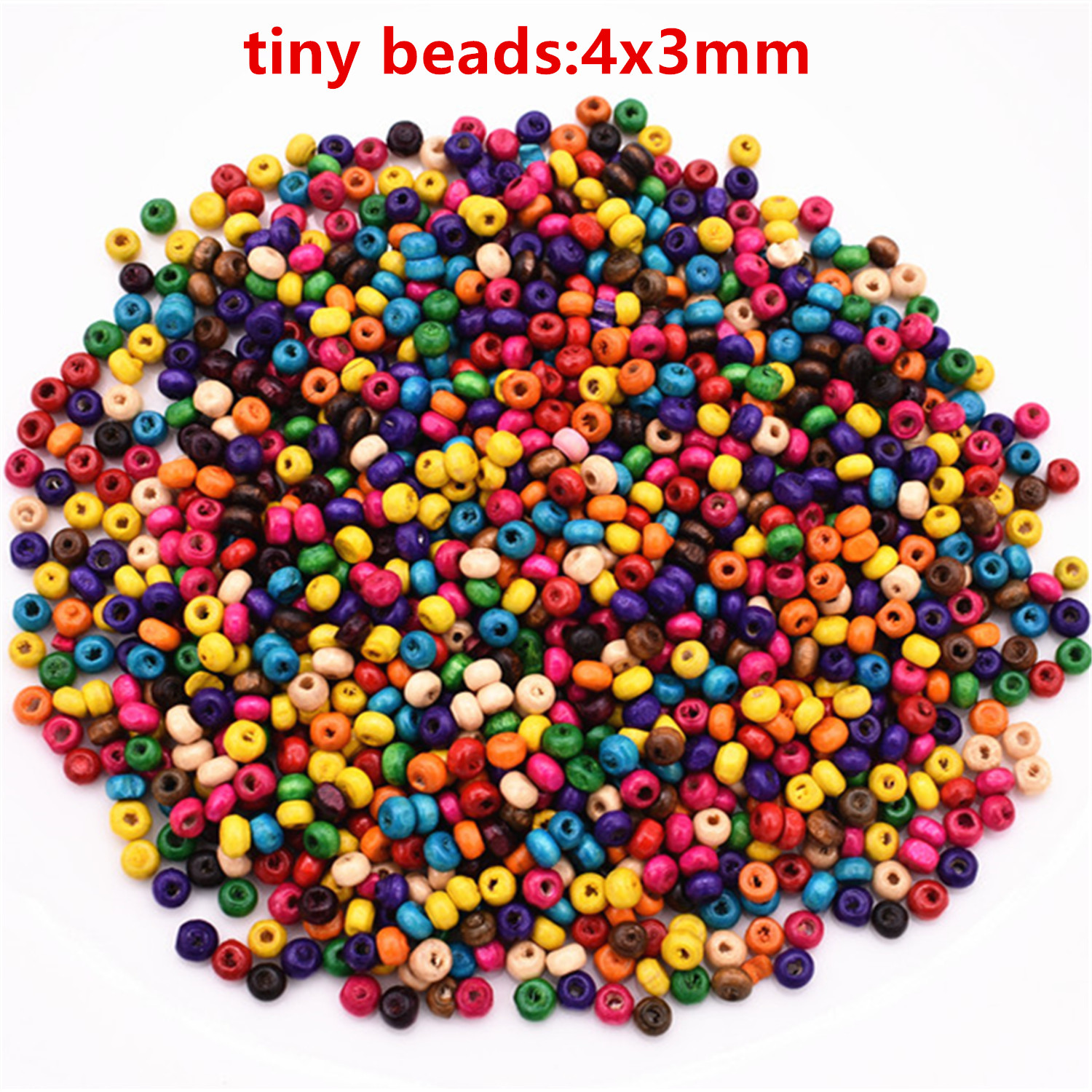 Wooden Mix-Color Round Loose Beads craft beads Necklace Make Accessories 20mm