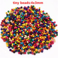 4mm 1000pcs/lot Mixed Colors Tiny Wooden Beads Loose Beads For Making Bracelet Necklace DIY Handmade Jewelry Accessories