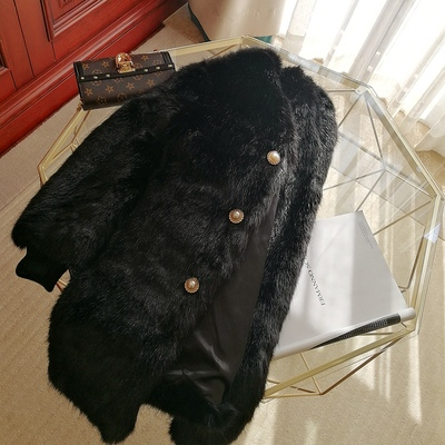 2020 New Style High-end Fashion Women Faux Fur Coat S102