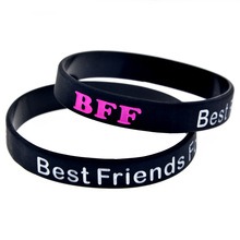 gift Best Friends Forever silicone bracelet BFF Commemorative Bracelet Factory Price