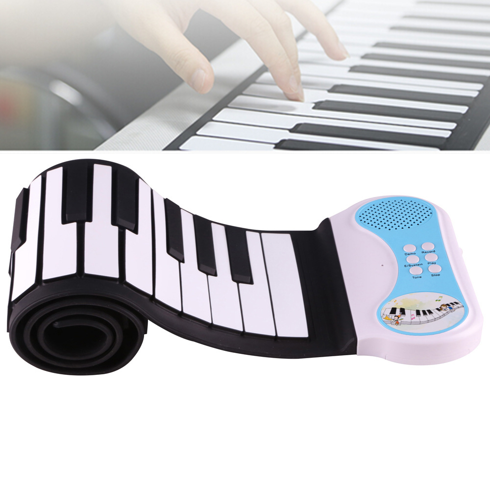 49 Keys Silicon Flexible Hand Roll Up Piano Electronic Keyboard Organ Enlightenment For Music Performance And Training