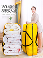 Плетеная Сумка, перемещающаяся объемная упаковочная сумка из змеиной кожи, карманная сумка для хранения багажа, большая толстая Холщовая С...