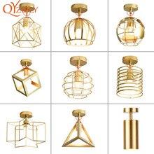 Современный потолочный светильник, потолочный светильник, светильник в стиле лофт, Винтажный дизайн, промышленный светильник для гостиной, спальни, Золотой Металл, для дома
