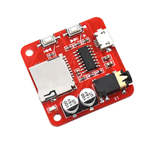 DC5V MP3 Amplifiers Mini Mp3 Decoder Board TF Card Audio Player USB Power Supply Input Decoding System Amplifiers Module DIY KIT