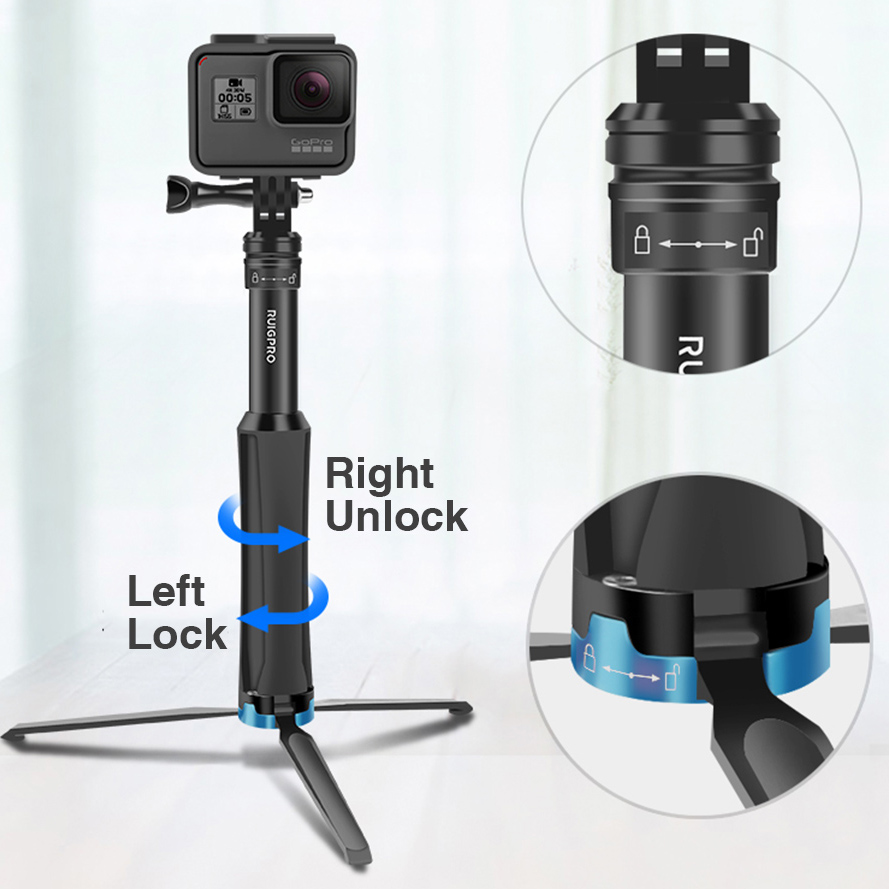 Image 4 - Ruigpro Multi functional All in one Aluminum Universal Tripod Handheld Monopod For GoPro 7 DJI OSMO Action Camera Smartphone-in Sports Camcorder Cases from Consumer Electronics